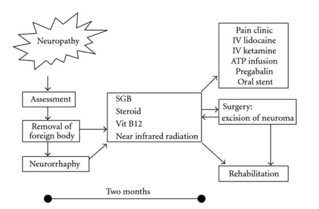 traitement et mécanisme lors de lesion du nerf trijumeau