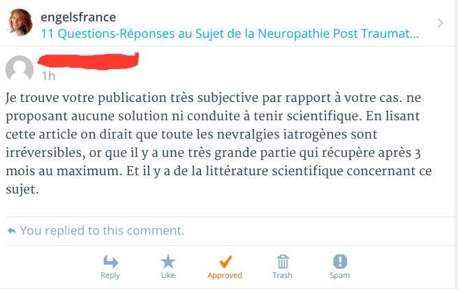 commentaire dentiste neuropathie